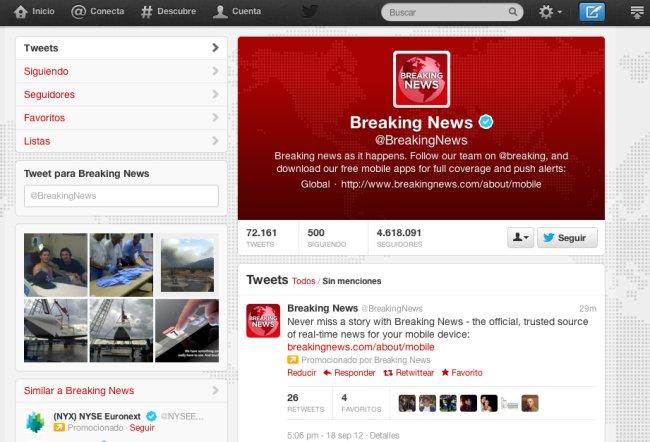 El nuevo diseño de Twitter y sus usos
