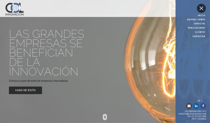 COLINNOVACION Rediseña su página web, modelo 2019